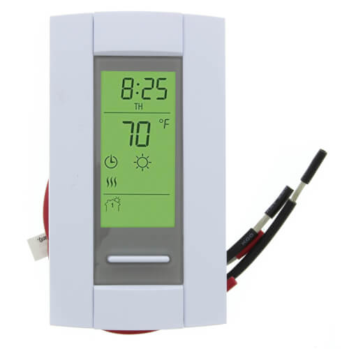 7-Day Programmable Dual Voltage Line Volt Thermostat for Electric (Ambient) & Floor Heating Product Image