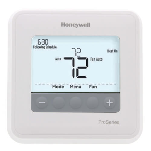 T4 Pro Programmable Thermostat, 1H/1C Heat Pump, 1H/1C Conventional Product Image