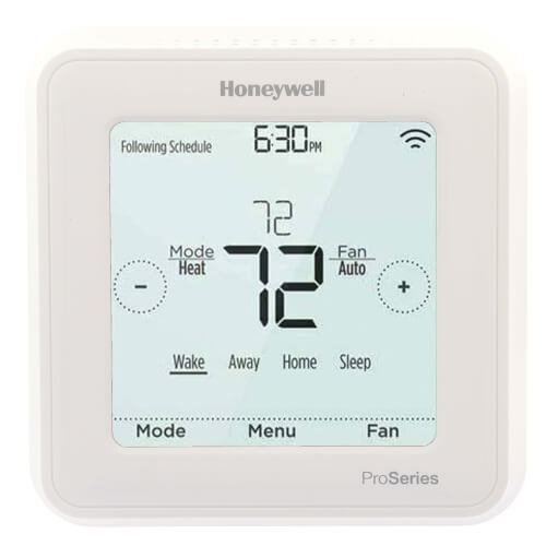 Z-Wave T6 Pro Programmable Thermostat, 3H/2C Heat Pump, 2H/2C Conventional Product Image