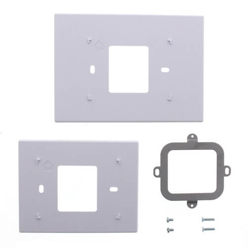 White Cover Plate Assembly for Prestige® 2-Wire IAQ Thermostat Product Image