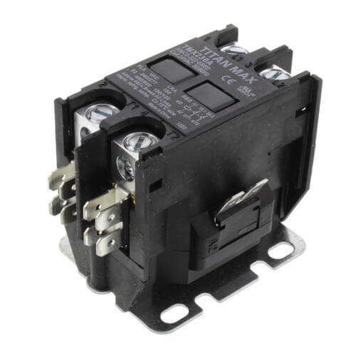 2 Pole DP Contactor, 24 Volt Coil, 30 Amp Product Image