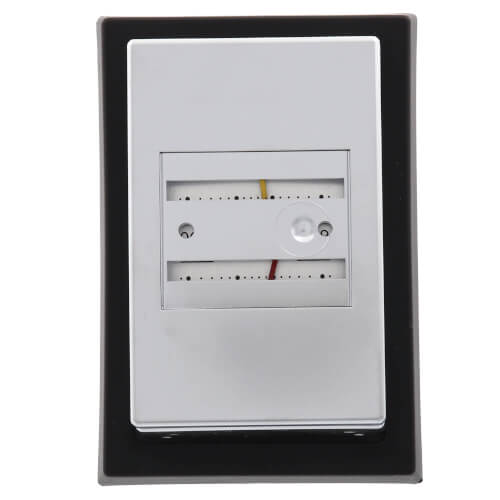 Pneumatic Thermostat Direct Acting, Heating includes small Wall Plate and Satin Chrome Cover (59 to 90F) Product Image