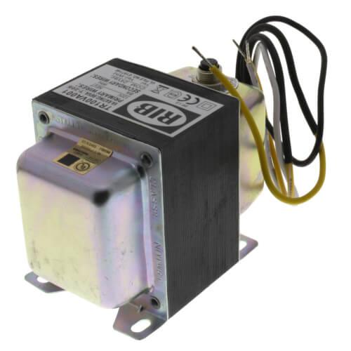 Transformer w/ Circuit Breaker, Foot & Single Threaded Hub Mount, 100VA, 120-24 Vac Product Image