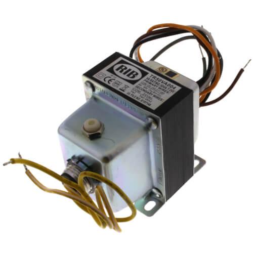 Transformer w/ Circuit Breaker, Foot & Dual Threaded Hub Mount, 50VA, 480/277/240/120-24 Vac Product Image