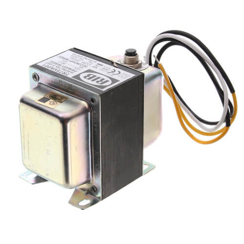 Transformer w/ Circuit Breaker, Foot & Single Threaded Hub Mount, 75VA, 120 to 24 Vac Product Image