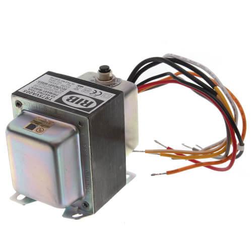 Transformer w/ Circuit Breaker, Foot & Single Threaded Hub Mount, 75VA, 480/240/208/120-24 Vac Product Image