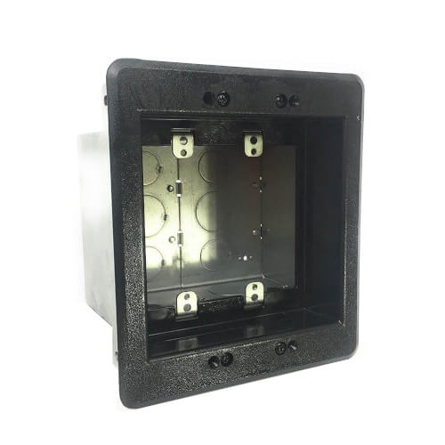 2-Gang Steel Recessed TV Box (Black) Product Image