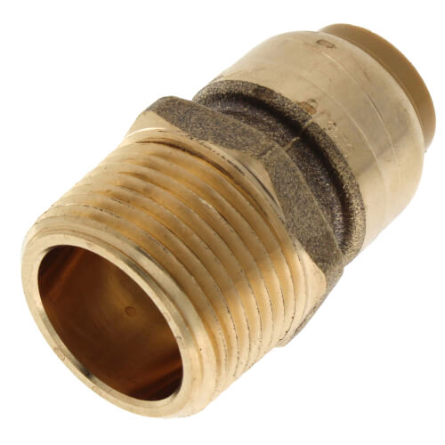 "1/2"" Sharkbite x 3/4"" Male Pipe Thread Reducing Connector (Lead Free) Product Image"