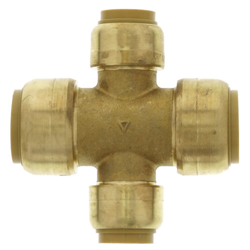 "3/4"" x 3/4"" x 1/2"" x 1/2"" Sharkbite Brass Cross (Lead Free) Product Image"
