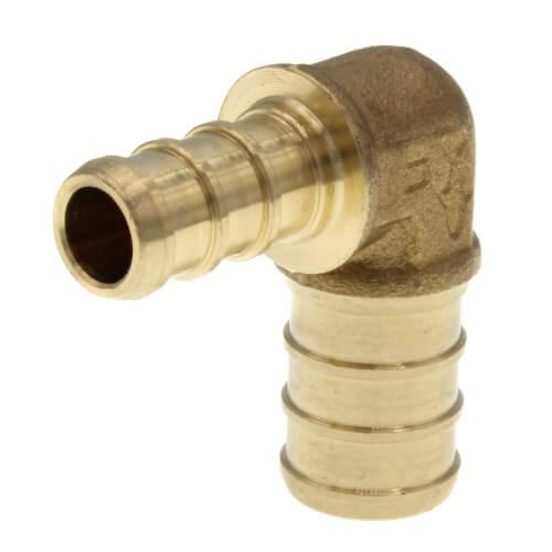 """1/2"""" x 3/8"""" PEX Crimp Reducing 90° Elbow (Lead Free) Product Image"""