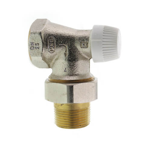 """1"""" Vertical Angle Valve For Standard Capacity Radiator Product Image"""