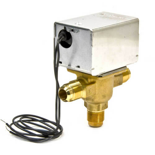 "1/2"" Flare Connection 3 Way Zone Valve, port A normally closed (120v) Product Image"