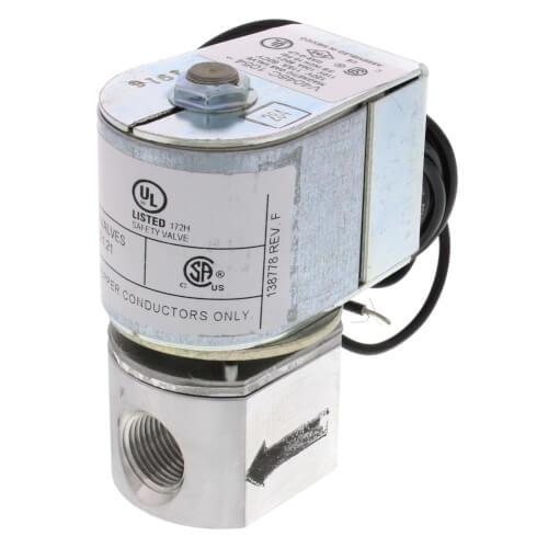 "3/8"" NPT Solenoid Pilot Gas Valve Product Image"
