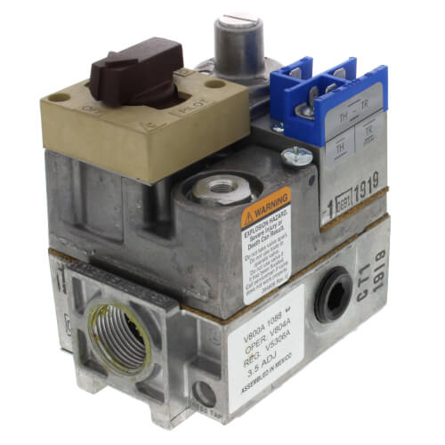 "Standard Pilot Gas Valve - 24 Vac - 3/4"" x 3/4"" Inlet/Outlet Size Product Image"
