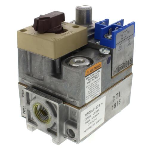 "Standard Pilot Gas Valve - 24V - 1/2"" x 3/4"" Inlet/Outlet Size Product Image"
