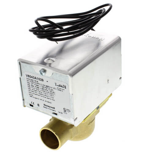"""3/4"""" Sweat Connection Zone Valve, normally closed (24v) Product Image"""