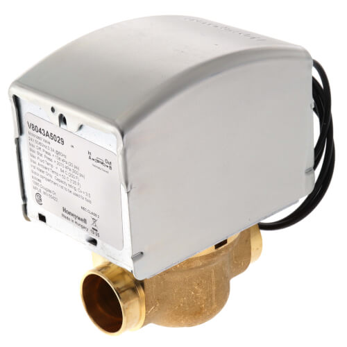 "3/4"" Sweat Connection Zone Valve, normally closed, 300 psi (24v) Product Image"