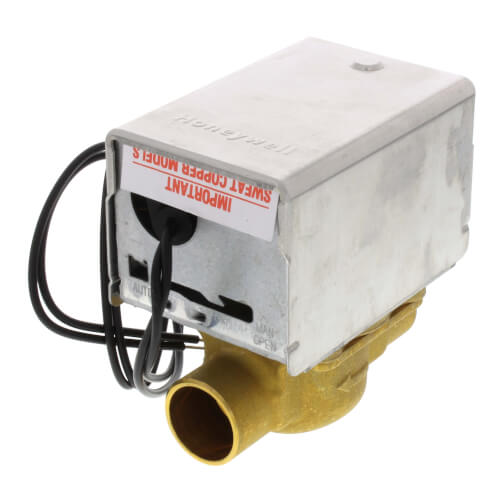 "3/4"" Sweat Connection Zone Valve, normally open, no manual opener (24v) Product Image"