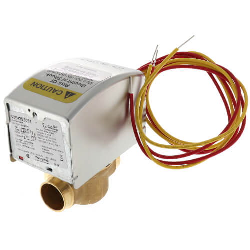 """3/4"""" Sweat Connection Zone Valve, normally closed, w/ manual opener, 8 Cv (24v) Product Image"""