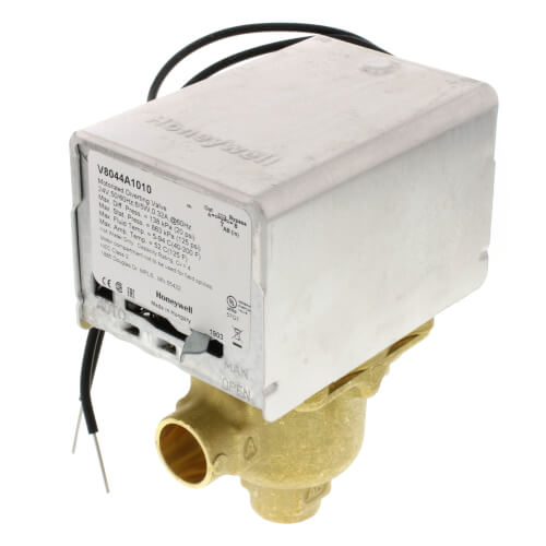 "1/2"" Sweat Connection 3 Way Zone Valve, port A normally closed (24v) Product Image"