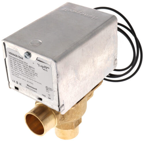 "3/4"" Sweat Connection 3 Way Zone Valve, port A normally closed (24v) Product Image"