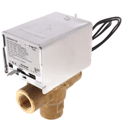 """1/2"""" NPT Connection 3 Way Zone Valve, port A normally closed (24v) Product Image"""