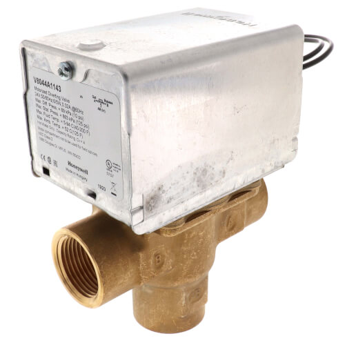 "3/4"" NPT Connection 3 Way Zone Valve, port A normally closed (24v) Product Image"