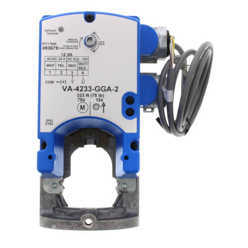 VA-4233 24V Proportional Direct-Mount Spring Return Electric Valve Actuator (61 lb-in) Product Image