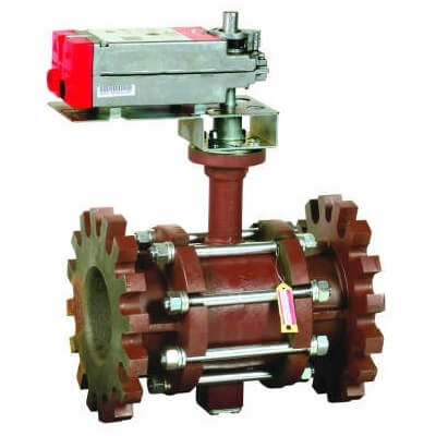 """4"""" 2-Way Flange Actuated Control Ball Valve, Non-Spring Return Modulating (254 Cv) Product Image"""