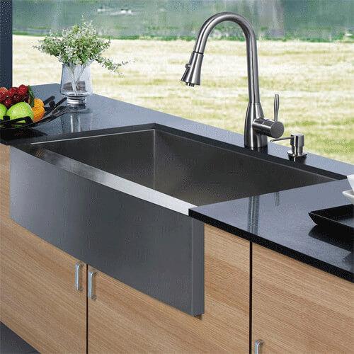 VG15003 - Vigo VG15003 - Apron Front Stainless Steel Kitchen Sink ...