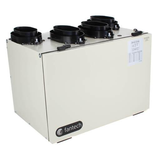 "VHR Series Heat Recovery Ventilator w/ Fan Shutdown Defrost, 6"" Top Ports Product Image"