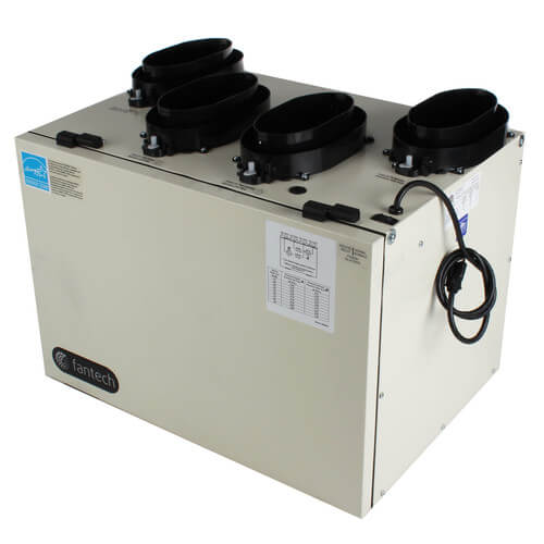 "VHR Series Heat Recovery Ventilator w/ WinterGuard Recirculation Defrost, 6"" Top Ports Product Image"