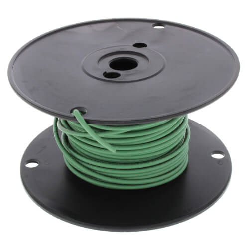 Spool of Stranded Copper Wire, 12 GA (Green, 100 ft) Product Image