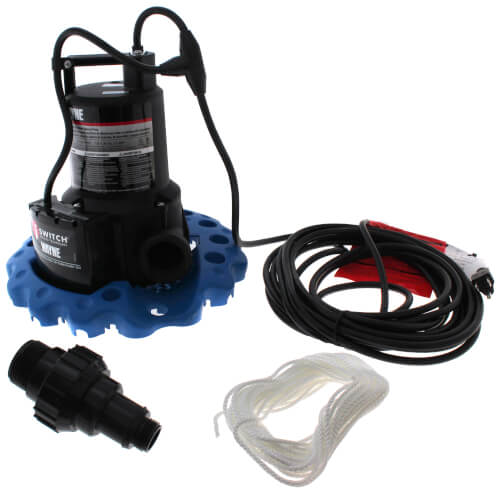 WAPC250 1/4 HP Automatic iSwitch Thermoplastic Pool Cover Pump (50 GPM)