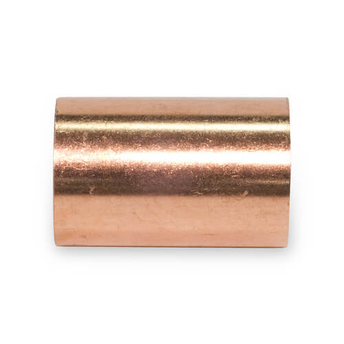 "1-1/4"" Copper DWV Coupling Less Stop Product Image"