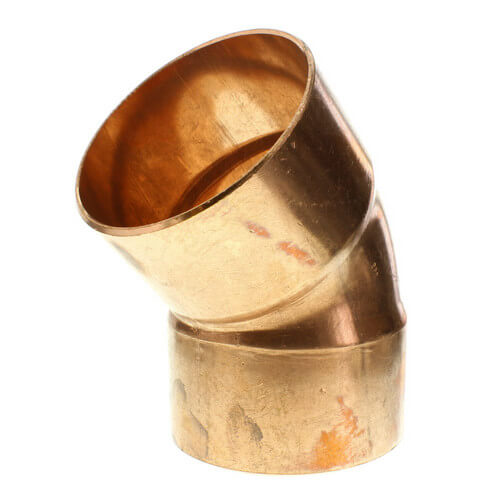 """3-1/2"""" Copper 45° Elbow Product Image"""