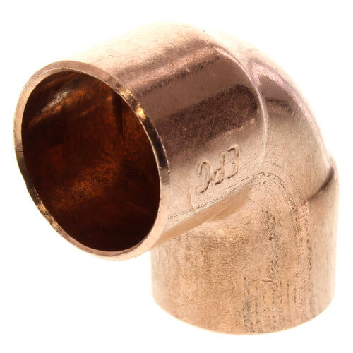 "5/8"" Copper 90° Elbow Product Image"
