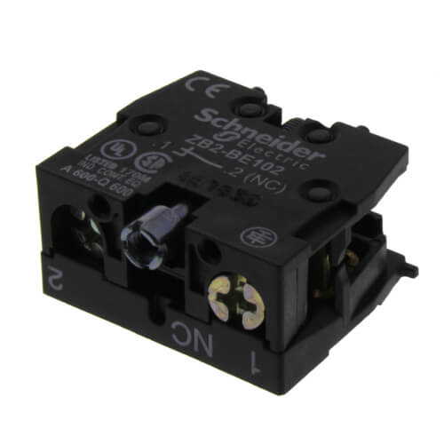 1 N/C Spring Return Contact Block, 10A, Front Mount Product Image