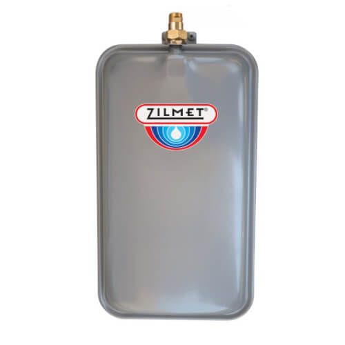 Flat Rectangular Hydronic Wall Hung Expansion Tank w/ Union Check (2.1 Gallon) Product Image
