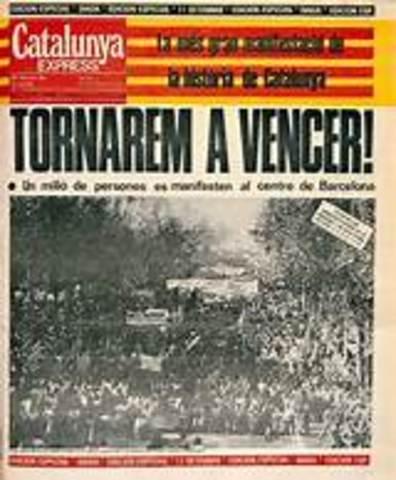 Manifestación Autonomía de Barcelona