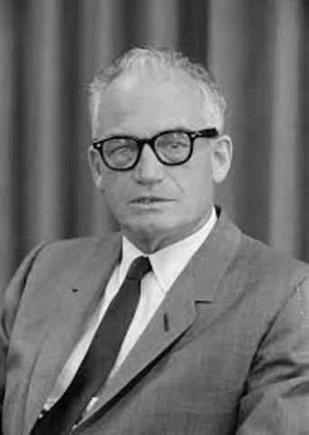 Barry Goldwater runs for President