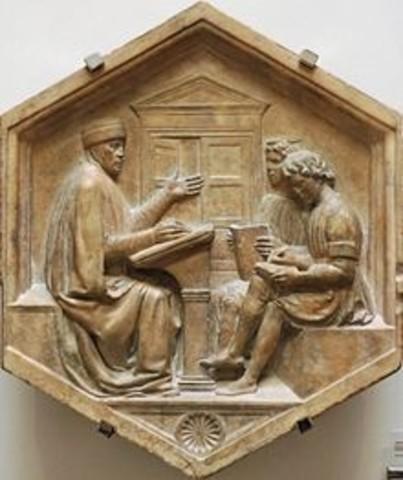 Roma: Escritura de Institutiones grammaticae