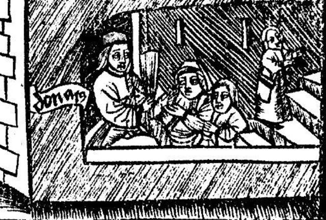 Roma: escritura de De Octo partibus orationis Ars Minor