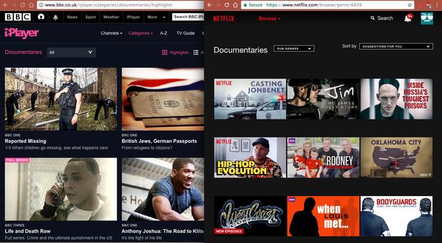 Netflix and BBC iPlayer