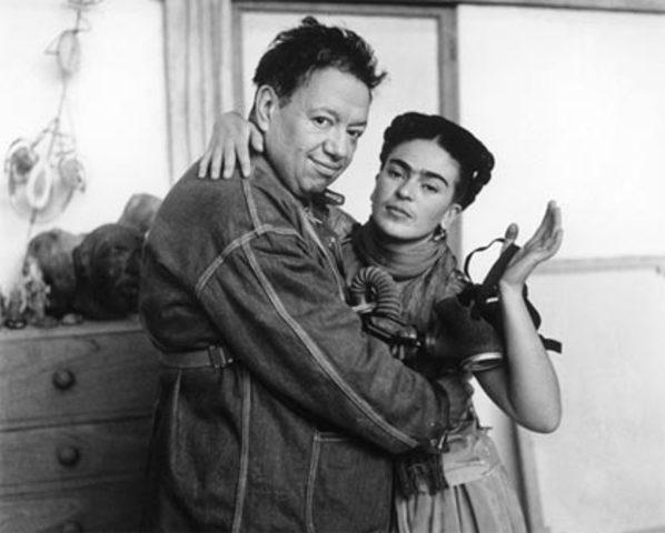 Antonieta y Diego Rivera se conocen