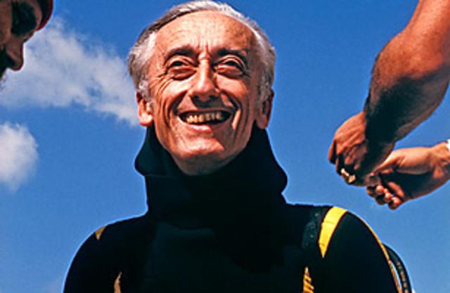Jacques Cousteau devolpes SCUBA
