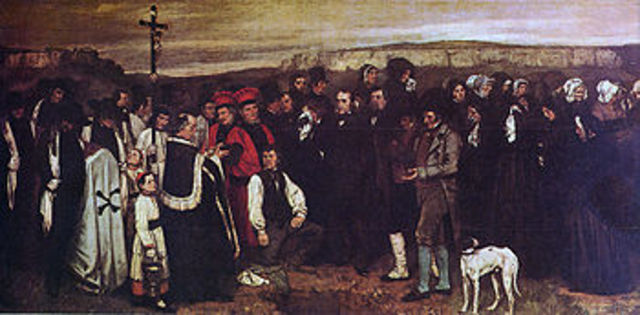 """""""A burial at Ornans"""" By Gustave Courbet"""