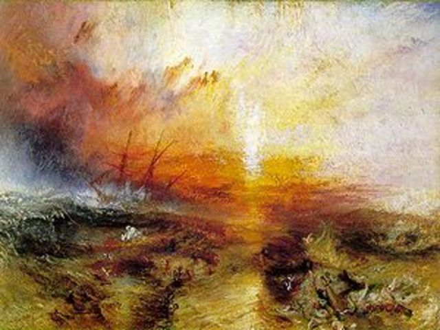 """""""The slave ship"""" By J.M.W Turner"""