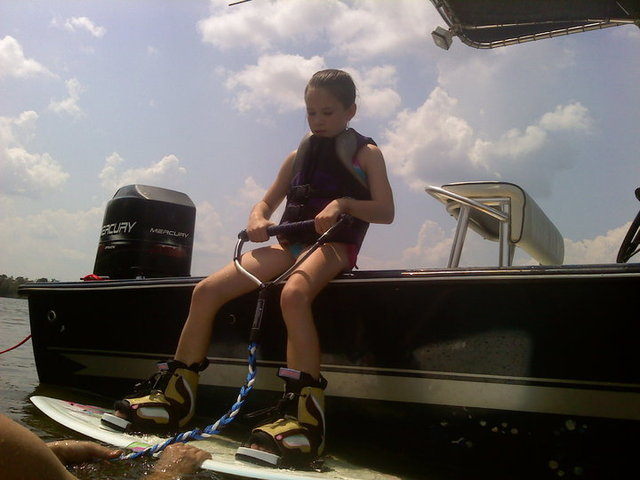 First time wake boarding