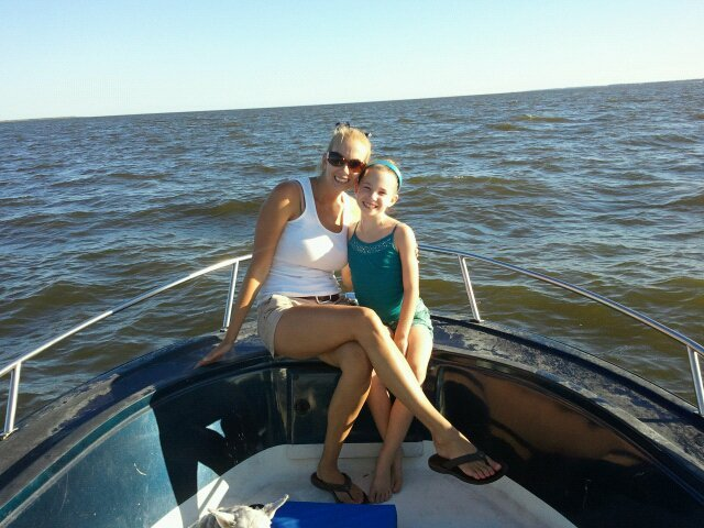 Our first time out shrimping.